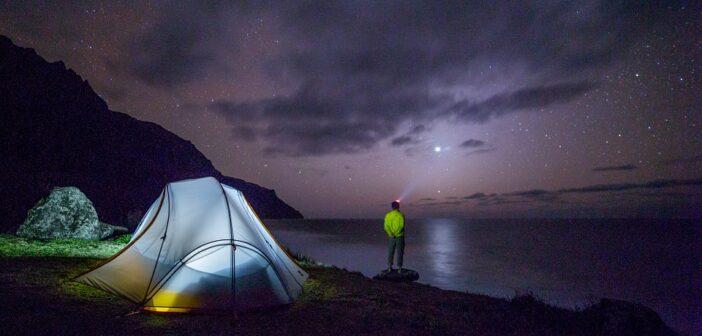Campingtur med gasblus